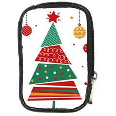 Christmas Tree Decorated Compact Camera Leather Case