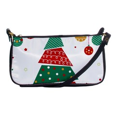 Christmas Tree Decorated Shoulder Clutch Bag