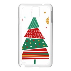 Christmas Tree Decorated Samsung Galaxy Note 3 N9005 Case (white) by AnjaniArt