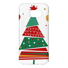 Christmas Tree Decorated Samsung Galaxy S7 Edge Hardshell Case
