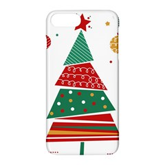 Christmas Tree Decorated Apple Iphone 7 Plus Hardshell Case by AnjaniArt