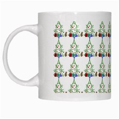 Christmas Tree Pattern White Mugs by AnjaniArt