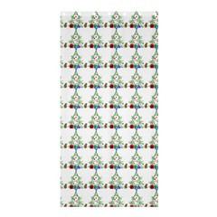 Christmas Tree Pattern Shower Curtain 36  X 72  (stall)  by AnjaniArt