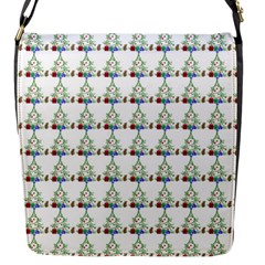 Christmas Tree Pattern Flap Closure Messenger Bag (s) by AnjaniArt
