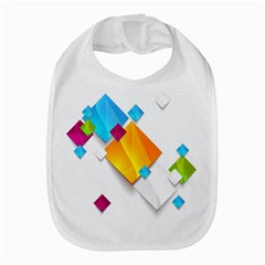 Colorful Abstract Geometric Squares Bib by Alisyart