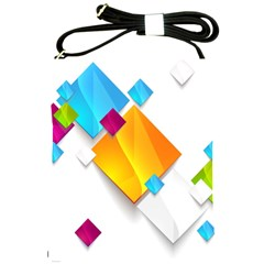 Colorful Abstract Geometric Squares Shoulder Sling Bag