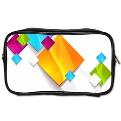 Colorful Abstract Geometric Squares Toiletries Bag (one Side) by Alisyart