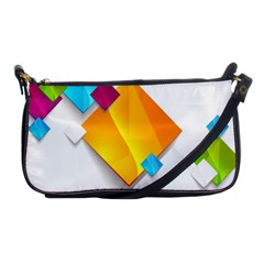 Colorful Abstract Geometric Squares Shoulder Clutch Bag by Alisyart