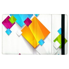 Colorful Abstract Geometric Squares Apple Ipad 2 Flip Case