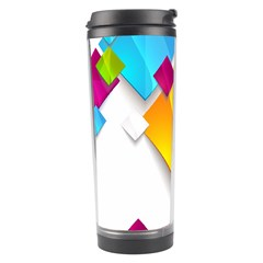 Colorful Abstract Geometric Squares Travel Tumbler