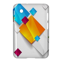 Colorful Abstract Geometric Squares Samsung Galaxy Tab 2 (7 ) P3100 Hardshell Case