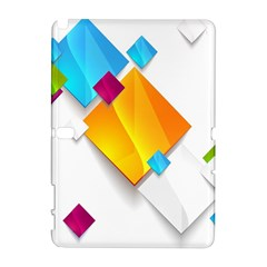 Colorful Abstract Geometric Squares Samsung Galaxy Note 10 1 (p600) Hardshell Case by Alisyart