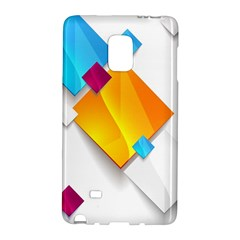 Colorful Abstract Geometric Squares Samsung Galaxy Note Edge Hardshell Case by Alisyart
