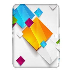 Colorful Abstract Geometric Squares Samsung Galaxy Tab 4 (10 1 ) Hardshell Case