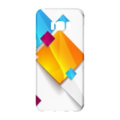 Colorful Abstract Geometric Squares Samsung Galaxy S8 Hardshell Case  by Alisyart