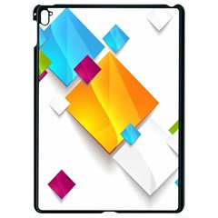 Colorful Abstract Geometric Squares Apple Ipad Pro 9 7   Black Seamless Case