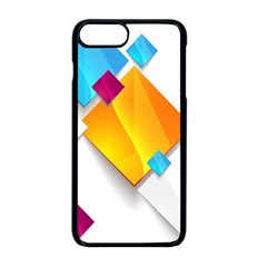 Colorful Abstract Geometric Squares Apple Iphone 8 Plus Seamless Case (black)