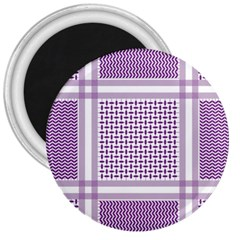 Purple Geometric Headdress 3  Magnets by Mariart