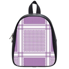 Purple Geometric Headdress School Bag (small)