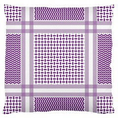 Purple Geometric Headdress Large Cushion Case (two Sides)