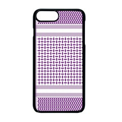 Purple Geometric Headdress Apple Iphone 8 Plus Seamless Case (black)
