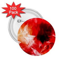 Colorful Geometric Triangle Diamond 2 25  Buttons (100 Pack)