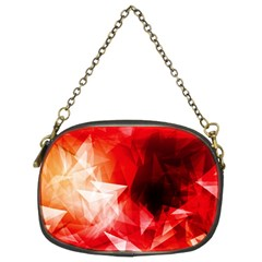 Colorful Geometric Triangle Diamond Chain Purse (two Sides)