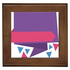 Triangle Fragment Ribbon Title Box Framed Tiles