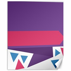 Triangle Fragment Ribbon Title Box Canvas 16  X 20