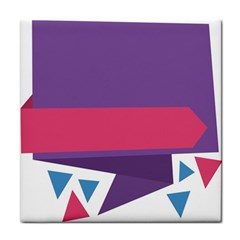 Triangle Fragment Ribbon Title Box Face Towel