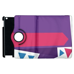 Triangle Fragment Ribbon Title Box Apple Ipad 3/4 Flip 360 Case by AnjaniArt