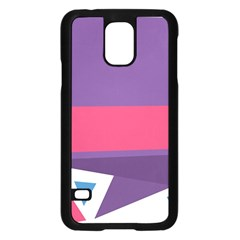 Triangle Fragment Ribbon Title Box Samsung Galaxy S5 Case (black)