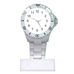Black And White Abstract Pattern Plastic Nurses Watch
