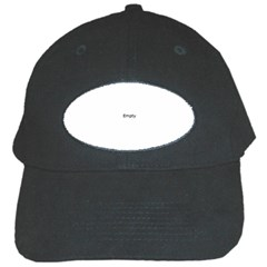 Black And White Abstract Pattern Black Cap