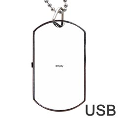 Black And White Abstract Pattern Dog Tag Usb Flash (two Sides)