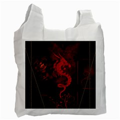Wonderful Red Chinese Dragon Recycle Bag (one Side)