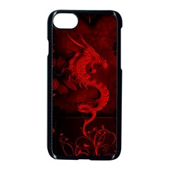 Wonderful Red Chinese Dragon Apple Iphone 7 Seamless Case (black) by FantasyWorld7