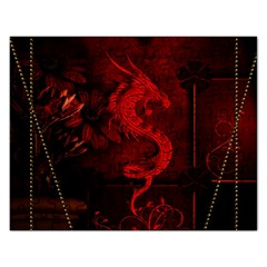 Wonderful Red Chinese Dragon Rectangular Jigsaw Puzzl by FantasyWorld7