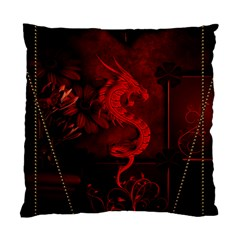 Wonderful Red Chinese Dragon Standard Cushion Case (two Sides)