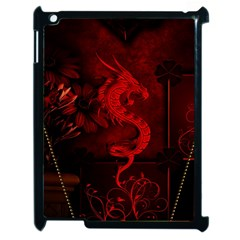 Wonderful Red Chinese Dragon Apple Ipad 2 Case (black) by FantasyWorld7