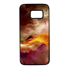 Abstract 3d Graphics Psychedelic Nebula Space Samsung Galaxy S7 Black Seamless Case by Bejoart