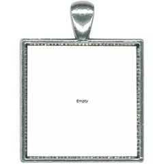 Text Typography Mathematics Board Formulas Square Necklace by Bejoart