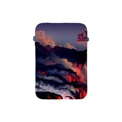 Landscapes Cherry Blossoms Trees Sea Lava Smoke Rocks Artwork Drawings Apple Ipad Mini Protective Soft Cases by Bejoart