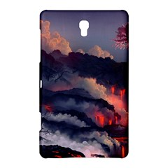 Landscapes Cherry Blossoms Trees Sea Lava Smoke Rocks Artwork Drawings Samsung Galaxy Tab S (8 4 ) Hardshell Case