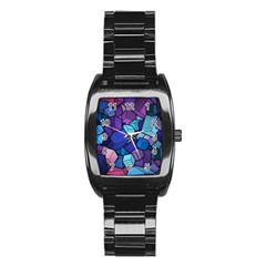 Cubes Vector Stainless Steel Barrel Watch by Bejoart