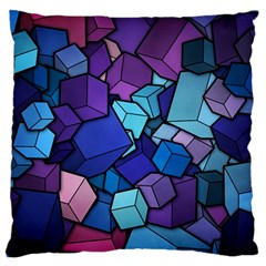 Cubes Vector Standard Flano Cushion Case (one Side)