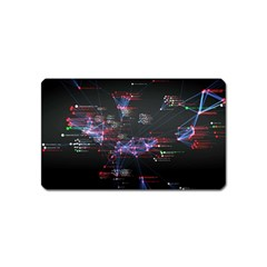 Anarchy Computer Cyber Hacker Hacking Virus Dark Sadic Internet Magnet (name Card) by Bejoart