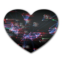 Anarchy Computer Cyber Hacker Hacking Virus Dark Sadic Internet Heart Mousepads