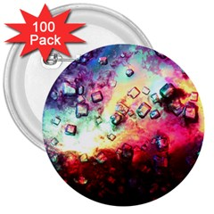 Abstract Colorful Psychedelic Color 3  Buttons (100 Pack)