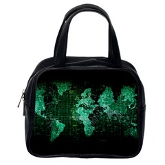 Hacker Hacking Hack Anarchy Virus Internet Computer Sadic Anonymous Dark Classic Handbag (one Side) by Bejoart